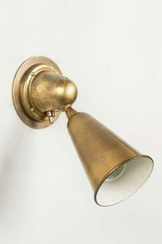 Italian Industrial Brass Sconces image 2