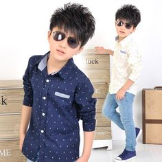 3 To 12 Years Old 2016 Spring New Children Boys Long Sleeve T Shirts Clothes Gentleman Style Boys Kids blouse Shirts Fashion Kids, Colorful Fashion, School Fashion, Long Tunic Tops, Long Blouse, Outfits Niños, Kids Outfits, Gentleman Stil, Spring Shirts