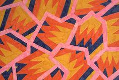 Print for Fabrics, Design by Nathalie Du Pasquier, Memphis, 1981.