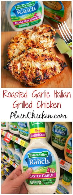 Roasted Garlic Italian Grilled Chicken