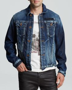 NEW TRUE RELIGION DANNY HIGH DENSITY JACKET size 2XL $258 #TrueReligion #JeanJacket