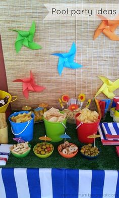 7 ideas for a pool party. - 7 ideas for a pool party. Pool party ideas More - Beach Ball Party, Pool Party Kids, Luau Party, Spongebob Birthday Party, Luau Birthday, 2nd Birthday Parties, Beach Ball Birthday, Birthday Ideas, Summer Birthday