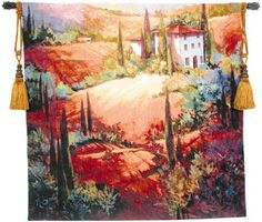 Morning Light Tuscan Tapestry Wall Hanging by Nancy O'Toole #BeddingNMore #Tuscan #Decor #Decorating #Art