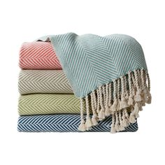 Herringbone Throws | Serena & Lily