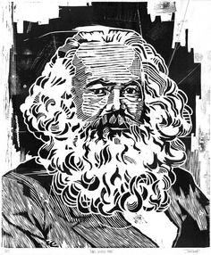 Items similar to Karl Heinrich Marx Portrait - Woodblock Print - Large Poster on Etsy Karl Marx Books, Communism, Socialism, Poster On, Woodblock Print, Mosaic, Caricatures, Portrait, Wallpaper