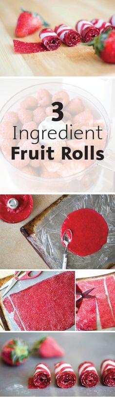 Learn how to make these homemade fruit rolls with only 3 ingredients—talk about an easy snack idea! Whether you're looking for a healthy kids' snack or a sweet treat to pack in your lunch, this fruity and fresh idea is sure to be something everyone will love.