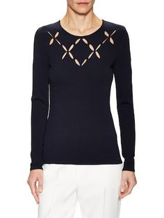 Laser Cut Crewneck Top  by BAILEY 44 at Gilt