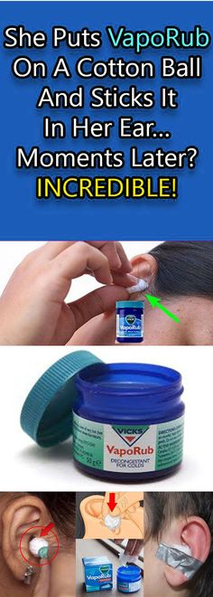 SHE PUTS VAPORUB ON A COTTON BALL AND STICKS IT IN HER EAR… MOMENTS LATER? INCREDIBLE!