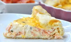 Salom and Boursin quiche with Thermomix, recipe for a tasty smoked salmon and purse quiche. this quiche is easy to make with the thermomix Ww Recipes, Salmon Recipes, Easy Dinner Recipes, Cooking Recipes, Healthy Recipes, Weight Watchers Menu, Weigh Watchers, Smoked Salmon Quiche, Batch Cooking