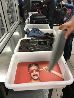 Snap is advertising Spectacles in every security tray at LAX.
