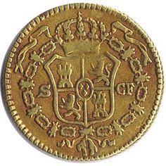 Moneda de oro 1/2 escudo 1773 Carlos III. Sevilla CF., Tienda Numismatica y Filatelia Lopez, compra venta de monedas oro y plata, sellos españa, accesorios Leuchtturm