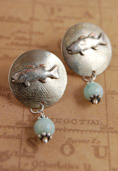 Silverfish Earrings | von Cynthia Murray Design