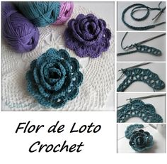 How to make a crochet rose rose diy crochet diy ideas diy crafts do it yourself diy projects Crochet Flower Tutorial, Crochet Diy, Crochet Amigurumi, Crochet Motifs, Crochet Flower Patterns, Irish Crochet, Crochet Crafts, Crochet Projects, Knitting Patterns