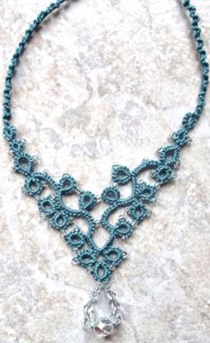 Turquoise       Last one of Jon's necklace.  This one was done in Lizbeth, size 3, country turquoise med.