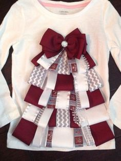 Texas Aggie Ribbon Tree Christmas Shirt