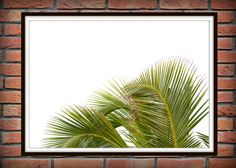 Tropical Leaf Print Green Palm Art Palm Art от Artvintagedecor
