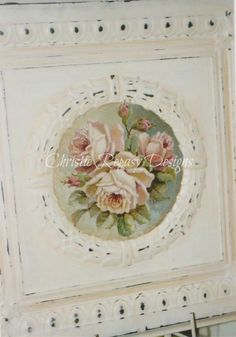 Original rose painting on tin C.Repasy, she's so talented!  Would love this for my bedroom <3