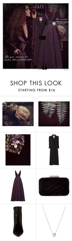 """""""Do you remember when time stood still..."""" by mcheffer ❤ liked on Polyvore featuring WALL, ML Monique Lhuillier, Jessica McClintock, Betsey Johnson, Links of London, romantic, booties, Gowns and velvet"""