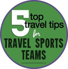 If your child is on a travel team, you know that can mean a weekend or two away for games or it can mean many weekends away depending on how far your team travels. Get the Top 5 Travel Tips for Travel Sports Teams! Soccer Travel Tips Softball Mom, Baseball Mom, Baseball 2016, Hockey Mom, Team Mom, A Team, Sports Mom, Sports Teams, Kids Soccer