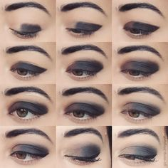   Brown Black Smokey Tutorial So are you basically drawing on a kohl pencil then wiping it back off for a variety of looks? That's fantastic! Delightfully innovative!