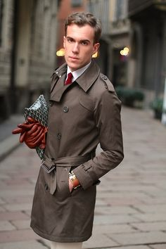 filippocirulli: follow me and check out all my outfits!! :)I was wearing: Burberry trench coat Hermes Collier de Chien Goyard bag Marvin loafers