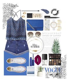 """""""And every skyline is like a kiss upon the lips."""" by potatostyle04 ❤ liked on Polyvore featuring Nika, WithChic, Converse, MICHAEL Michael Kors, Richmond & Finch, BauXo, River Island, Prada, NARS Cosmetics and Valentino"""