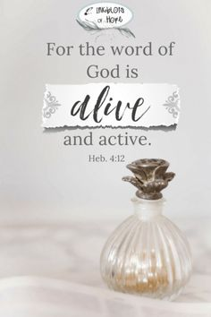 For the Word of the Lord is alive and active. Hebrews 4:12 #BibleVerse #Bible #Faith