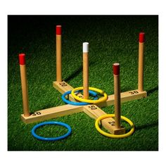 Franklin Sports Wooden Ring Toss,