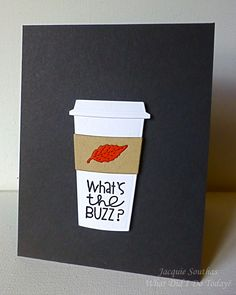 Coffee to Go hello card for CASology 220