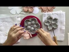 Millinery Flower Making Iron Mould 6 Pi - Diy Crafts - maallure Brooches Handmade, Handmade Flowers, Diy Flowers, Christmas Embroidery Patterns, Diy Embroidery, Crochet Doily Rug, Fabric Flower Pins, Paper Flowers Wedding, Decoupage Vintage