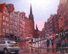 Edinburgh Painting - Golden Mile Edinburgh by Edward Abela