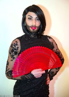Conchita Wurst, pictured at the 2012 Zuckerbackerball, has won millions of new fans ever s...
