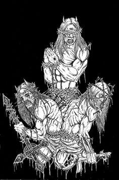 AlaricBarca666.bigcartel.com Metal T Shirts, Black Metal, Metal Art, Goats, Metal Yard Art, Goat