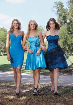 Sheath/Column Chiffon One Shoulder Natural Waist Short Bridesmaid Dresses