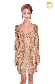 Patricia bonaldi by Dona Rica vestido gold luxo