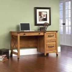 Sauder Registry Row Desk - Home - Furniture - Home Office Furniture - Desks & Hutches Loft Office, Home Office Desks, Home Office Furniture, Furniture Design, Small Office, Furniture Decor, Basement Office, Teen Furniture, Office Spaces
