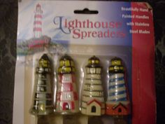 Nautical Lighthouse Cheese Spreader Set of 4 # 3265.