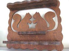 amazing vintage wood shelf