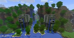 """Amazing crying dog statues (Titled """"An ancient passage to the Happydogland"""" by kiyahajr, 1st place entry in Dog Houses, Worth1000.com Minecraft contest)"""