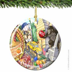 New York City Thanksgiving Day Parade Porcelain Christmas Ornament Relive the Macy's Thanksgiving Day Parade with this exclusive Thanksgiving Day Parade Christmas ornament.  Double sided porcelain keepsake. (http://www.nycwebstore.com/chuck-fischers-thanksgiving-day-parade-porcelain-christmas-ornament/)