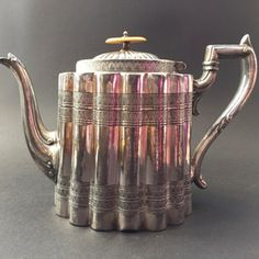 Victorian Silver Plated Teapot - The Hoarde