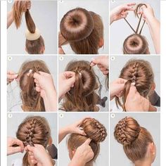 how to finish off a braid bun - Google Search