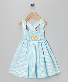 Take a look at this Blue Fish Smocked Anna Dress - Infant & Girls by Travelin' Trunk on #zulily today!