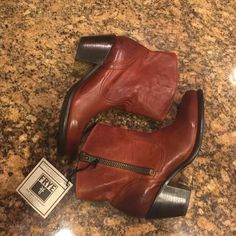 """Selling this """"JUST IN Frye Leslie Zip Bootie"""" in my Poshmark closet! My username is: cindyciara. #shopmycloset #poshmark #fashion #shopping #style #forsale #Frye #Boots"""