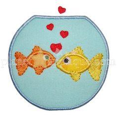 Fishbowl Love Applique by Planet Applique