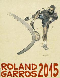 Poster of Roland-Garros 2015 © Du Zhenjun - Galerie Lelong - FFT 2015 Tennis Posters, Sports Posters, Tennis Serve, Davis Cup, Open Signs, Tennis Tips, French Open, Maria Sharapova, T Shirts