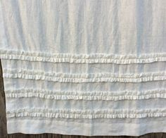 New to CustomLinensHandmade on Etsy: White Shower Curtain with Ruffles 100% Linen 50x72 Lined Curtains 2x33x67 - Reserved for Julie (327.00 USD)