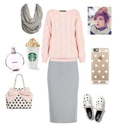 A fashion look from December 2015 featuring pink sweater, stretch pencil skirt and glitter sneakers. Browse and shop related looks. Cute Modest Outfits, Modest Dresses, Skirt Outfits, Casual Outfits, Summer Outfits, Apostolic Fashion, Modest Fashion, Fashion Outfits, Women's Fashion