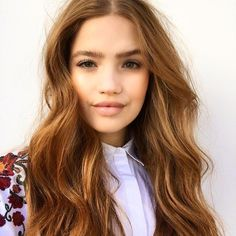 Like this hue? Our Colour recipe: 3/4 8 Light Blonde with 1/4 of 8.44 Intense Copper Blonde. Shop online now at myhdhair.com/