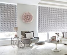 Motorised Roller blinds are great for wide windows, giving you effortless control at the touch of a button Electric Rollers, Electric Blinds, Roller Blinds, House Design, Touch, Colours, Windows, Button, Nice